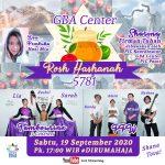Rosh Hashanah 5781 GBA Center – Pertumbuhan Spiritual Berskala Besar – 19 September 2020
